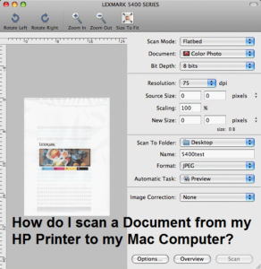 How do I scan a Document from my HP Printer to my Mac Computer?